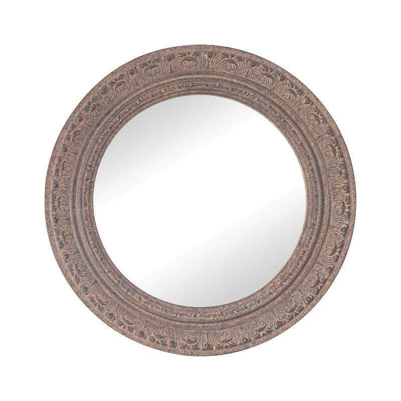 Sterling Industries Messina Composite Frame Wall Mirror in Rust