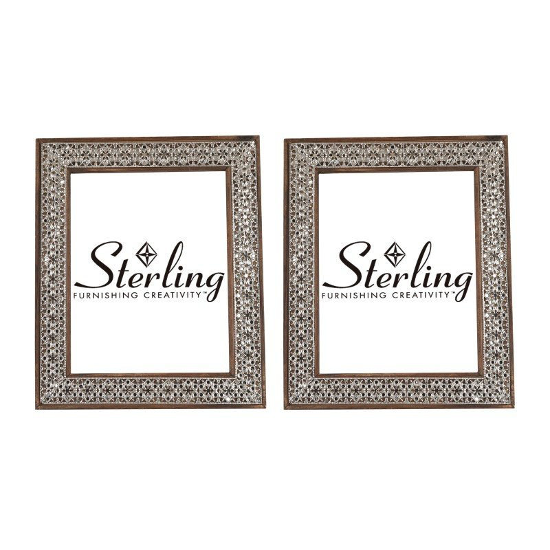 Sterling Industries Pierced Metal Picture Frames (Set of 2)