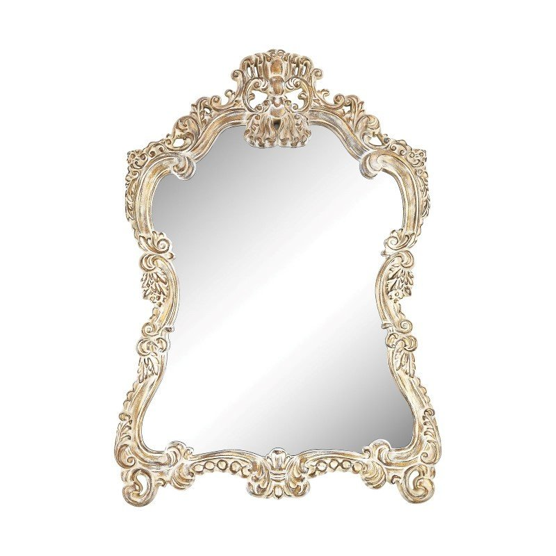 Sterling Industries Regence Composite Frame Wall Mirror in Belgian Cream