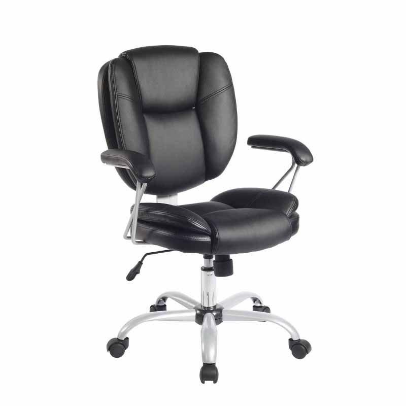 Techni Mobili 0930 Ergonomic Task Office Chair in Black
