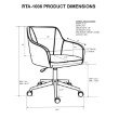 Techni Mobili Comfy and Classy Home Office Chair (RTA-1006-BG)