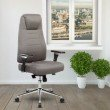 Techni Mobili Comfy Height Adjustable Home Office Chair with Wheels (RTA-5002-GRY)