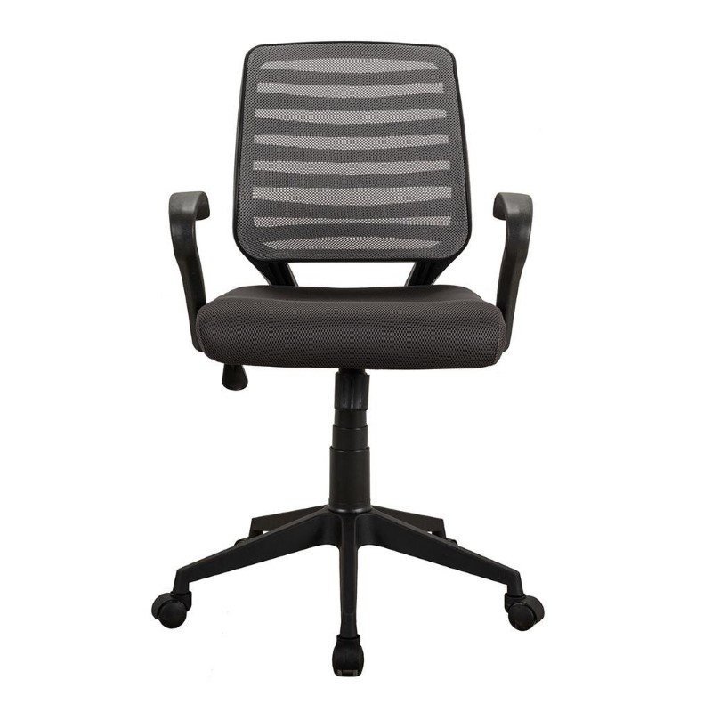 Techni Mobili Comfy Rolling Mesh Task Chair with Arms and Wheels in Gray (RTA-2920-GRY)