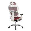 Techni Mobili Deluxe High Back Mesh Office Executive Chair with Neck Support in Red (RTA-5003-RED)