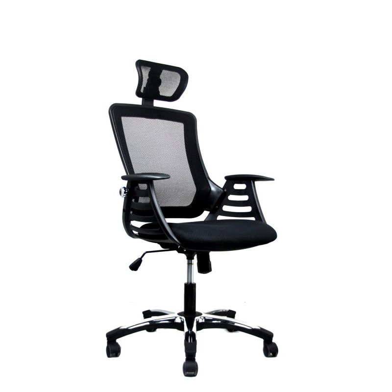 Techni Mobili Executive High Back Office Chair with Headrest in Black Finish