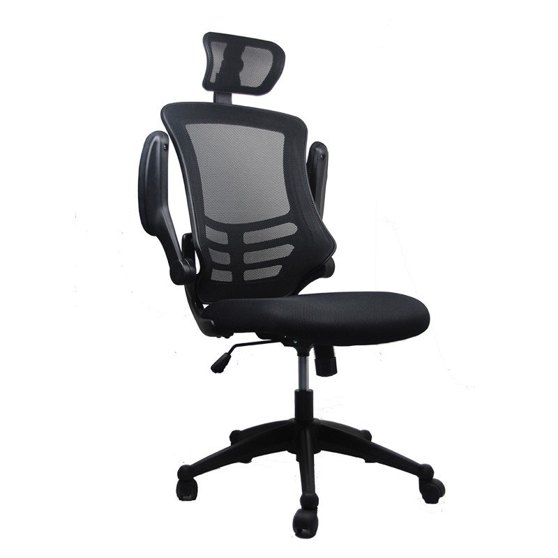 Techni Mobili Executive High Back Office Chair with Headrest in Black