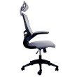 Techni Mobili Executive High Back Office Chair with Headrest in Silver Grey