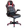 Techni Mobili Height Adjustable Office Chair with Detachable Headrest Pillow and Flip Up Arms in Red (RTA-2019-BK)