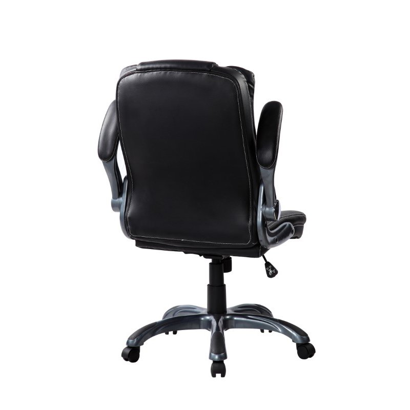 Techni Mobili Medium Back Executive Office Chair with Flip-up Arms in Black