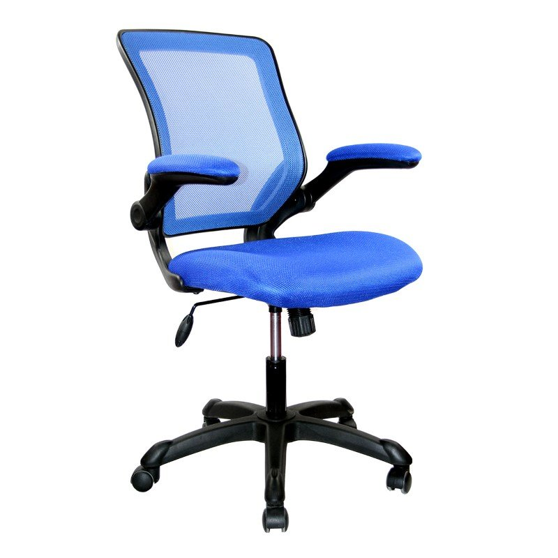 Techni Mobili Mesh Task Office Chair in Blue