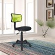 Techni Mobili Mesh Task Office Chair in Lime