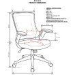 Techni Mobili Mid-Back Mesh Task Office Chair with Height Adjustable Arms in Gray