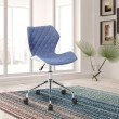 Techni Mobili Modern Height Adjustable Office Task Chair in Blue (RTA-3236-BL)