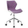 Techni Mobili Modern Height Adjustable Office Task Chair in Purple (RTA-3236-PPL)