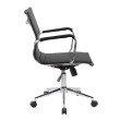 Techni Mobili Modern Medium Back Executive Office Chair in Black