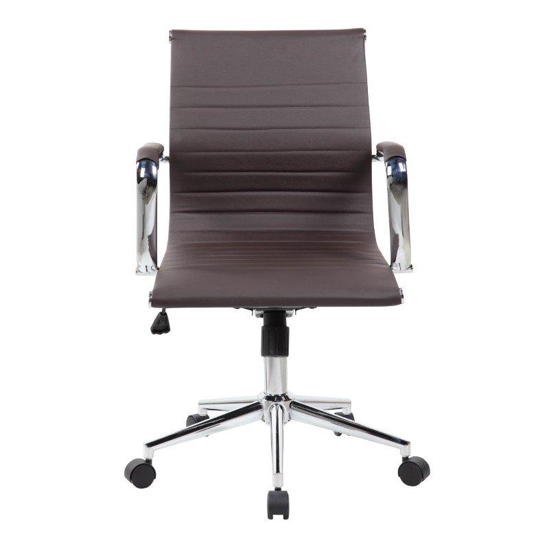 Techni Mobili Modern Medium Back Executive Office Chair in Chocolate