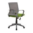Techni Mobili Rolling Mesh Office Task Chair with Arms and Wheels in Green (RTA-2918-GRN)