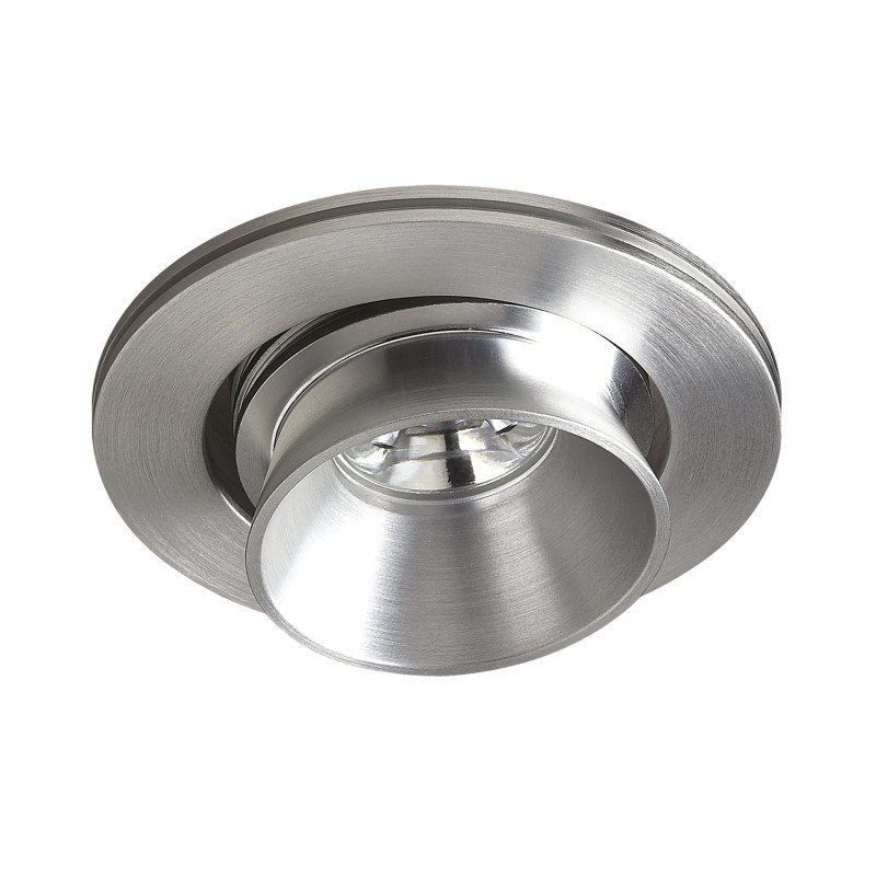Thomas Lighting Alpha Collection 1 Light Multi-Directional LED Button in Brushed Aluminum (A734DL/29)