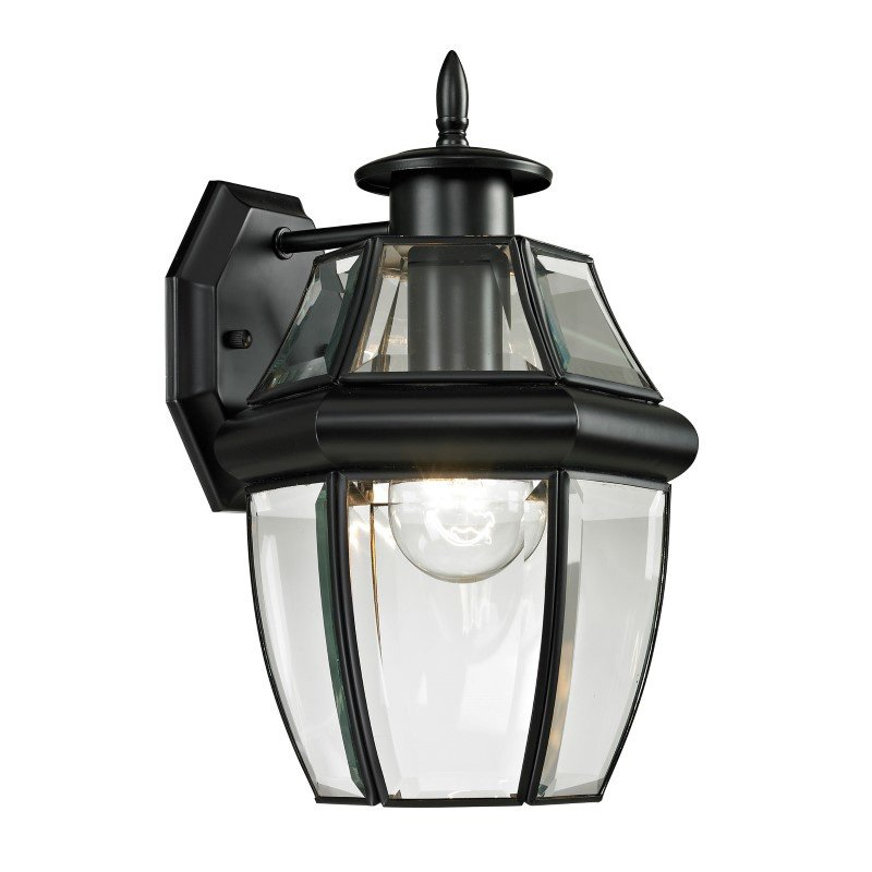 Thomas Lighting Ashford 1 Light Exterior Coach Lantern in Black (8601EW/60)