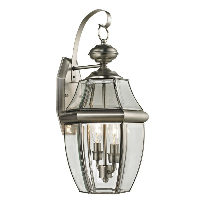 Thomas Lighting Ashford 2 Light Exterior Coach Lantern in Antique Nickel (8602EW/80)