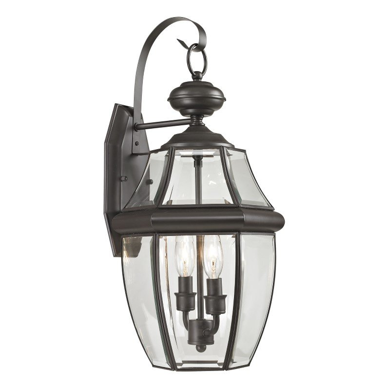 Thomas Lighting Ashford 2 Light Exterior Coach Lantern in Oil Rubbed Bronze (8602EW/75)