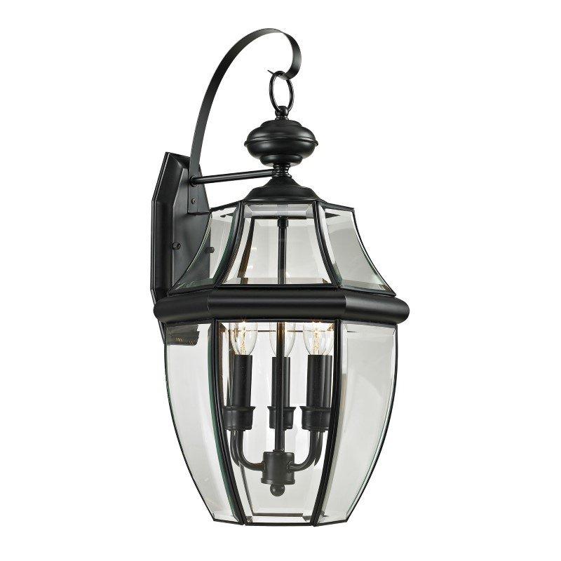 Thomas Lighting Ashford 3 Light Exterior Coach Lantern in Black (8603EW/60)