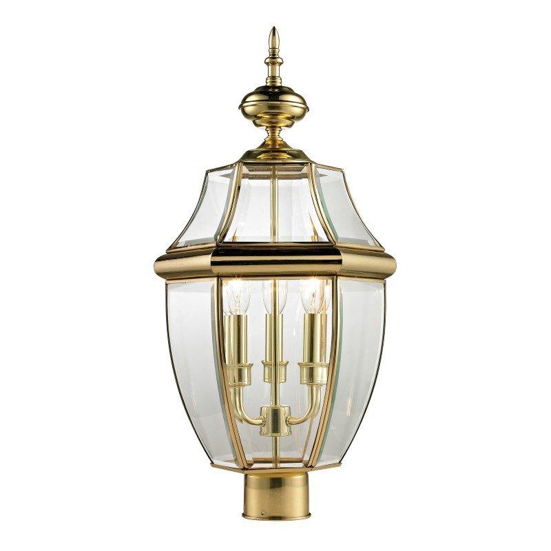 Thomas Lighting Ashford 3 Light Exterior Post Lantern in Antique Brass (8603EP/85)