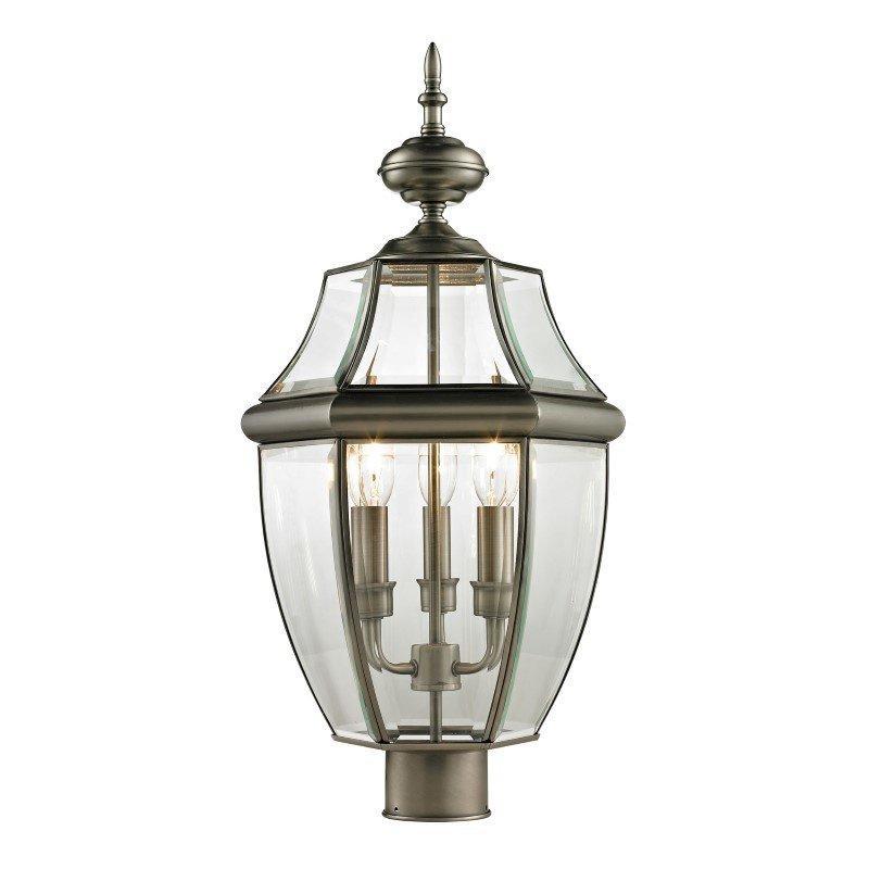 Thomas Lighting Ashford 3 Light Exterior Post Lantern in Antique Nickel (8603EP/80)