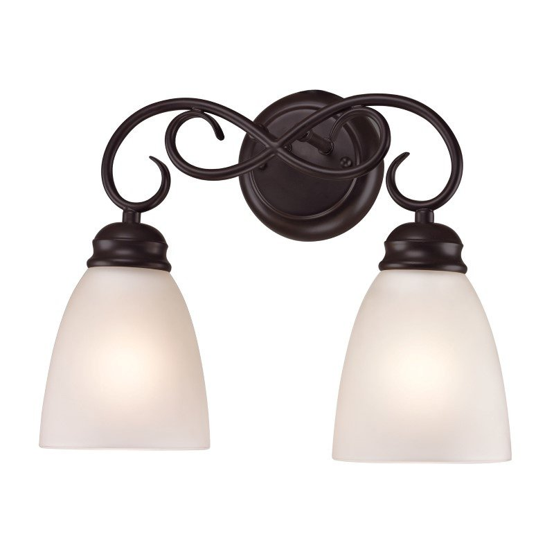 Thomas Lighting Chatham 2 Light Bath Bar in Oil Rubbed Bronze (1152BB/10)