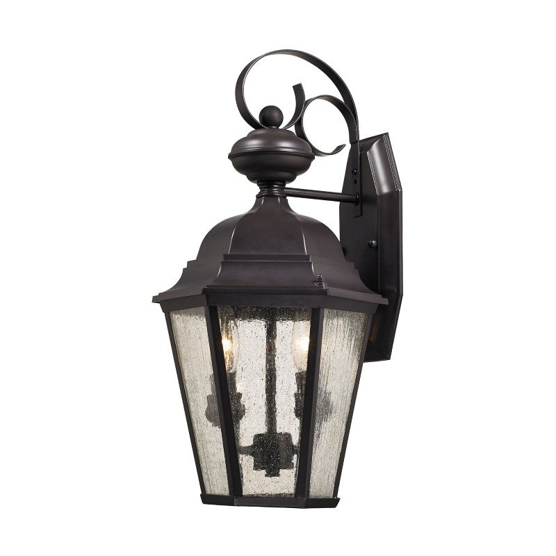 Thomas Lighting Cotswold 2 Light Exterior Wall Lamp in Oil Rubbed Bronze (8902EW/75)