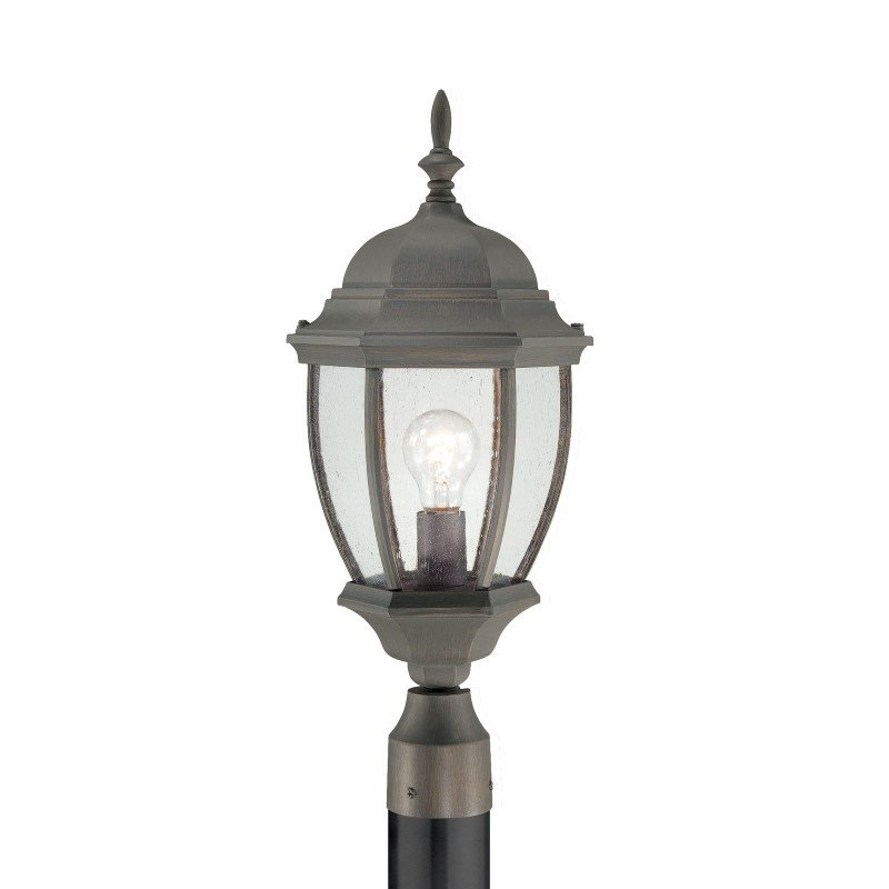 Thomas Lighting Covington 1 Light Outdoor Post in Painted Bronze (SL901063)