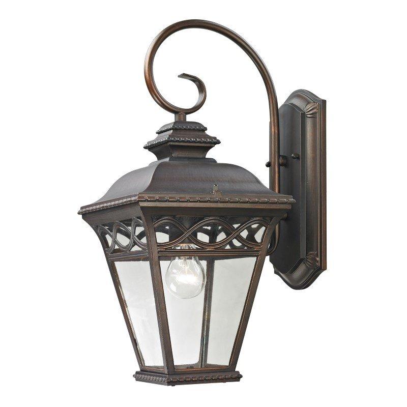 Thomas Lighting Mendham 1 Light Exterior Coach Lantern in Hazelnut Bronze (8511EW/70)
