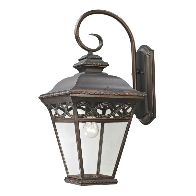 Thomas Lighting Mendham 1 Light Exterior Coach Lantern in Hazelnut Bronze (8521EW/70)