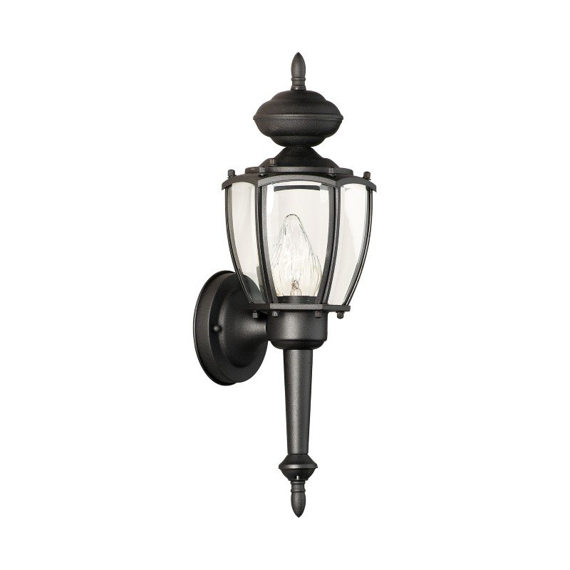 Thomas Lighting Park Avenue 1 Light Wall Lantern in Black (SL94727)