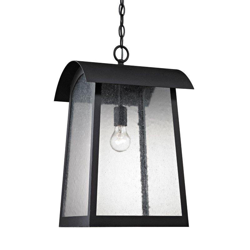Thomas Lighting Prince Street 1 Light Exterior Hanging Lamp in Matte Black (8721EH/65)