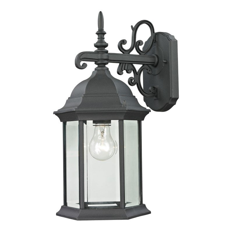 Thomas Lighting Spring Lake 1 Light Exterior Coach Lantern in Matte Textured Black (8601EW/65)