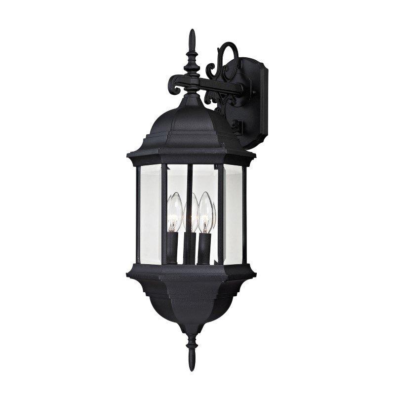 Thomas Lighting Spring Lake 3 Light Exterior Wall Lamp in Matte Black (8613EW/65)