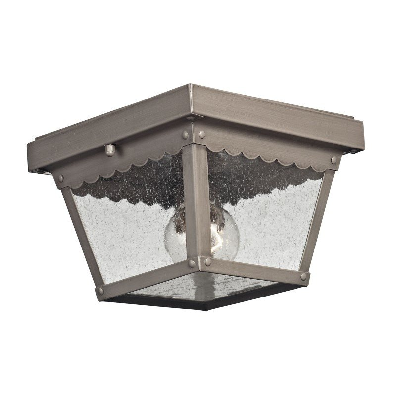 Thomas Lighting Springfield 2 Light Exterior Flush Mount in Dark Pewter (9102EF/80)