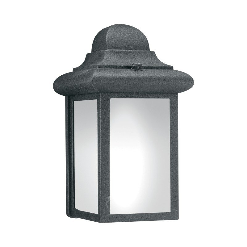Thomas Lighting Windbrook 1 Light Wall Lantern in Black (PL94807)