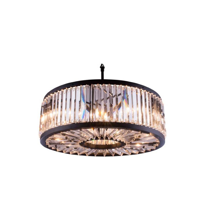 Urban Classic Chelsea 10 Light Matte Black Chandelier Clear Royal Cut Crystal (1203D35MB/RC)