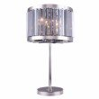Urban Classic Chelsea 4 Light Polished nickel Table Lamp Silver Shade (Grey) Royal Cut Crystal (1203TL18PN-SS/RC)
