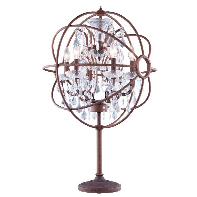 Urban Classic Geneva 6 Light Rustic Intent Table Lamp Clear Royal Cut crystal (1130TL21RI/RC)