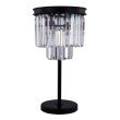 Urban Classic Sydney 3 Light Matte Black Table Lamp Clear Royal Cut Crystal (1231TL14MB/RC)
