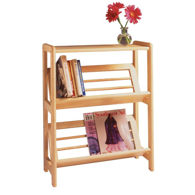 Winsome Wood 2-Tier Bookshelf in Natural