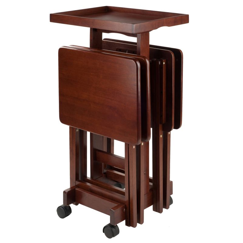 Winsome Wood 6pc Snack Table Set Walnut (94828)