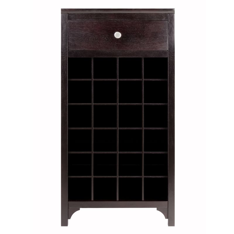 Winsome Wood Ancona Modular Wine Cabinet with One Drawer & 24-Bottle (92738)