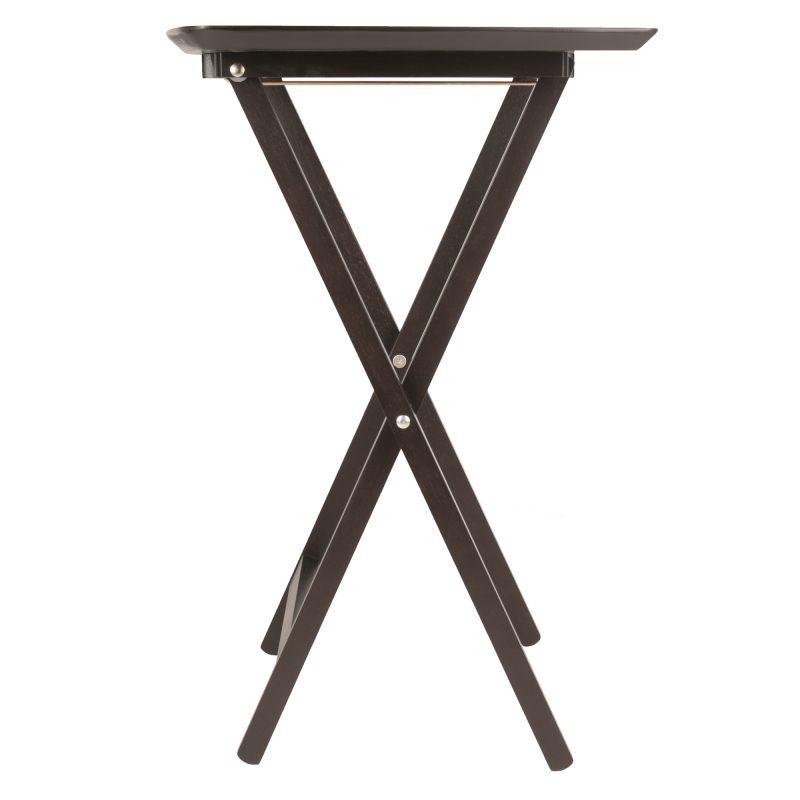 Winsome Wood Anila 5pc Set Fan Shape Snack Table in Coffee Finish (23594)