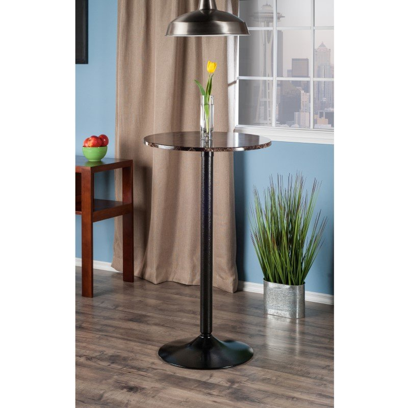 Winsome Wood Cora Pub Table in Black