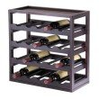 Winsome Wood Kingston Modular and Stackable 20-Bottle Wine Cubby in Espresso