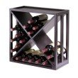 Winsome Wood Kingston Modular and Stackable X Wine Cubby in Espresso